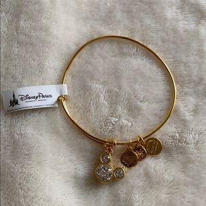 NWT Alex and Ani Gold Mickey Birth Stone Bracelet